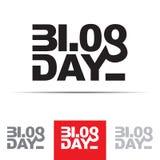 Het Teken van de blogdag Royalty-vrije Stock Foto