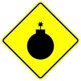 Het teken van de bom Stock Foto