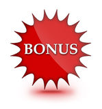 Het teken van de bonus stock illustratie