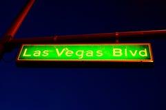 Het Teken van de Boulevard van Vegas van Las Royalty-vrije Stock Foto