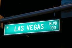Het teken van de Boulevard van Vegas van Las Royalty-vrije Stock Foto's