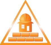 Het teken van de bouw Stock Foto
