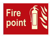 Het teken van de brand stock foto's