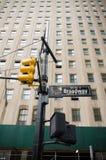 Het teken van de Broadwaystraat Stock Foto