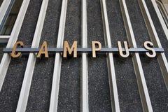 Het teken van de campus Royalty-vrije Stock Afbeelding