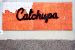 Het teken van de Catchupaschotel Royalty-vrije Stock Fotografie