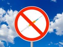 Het teken van de cirkel Geen drugs Stock Fotografie