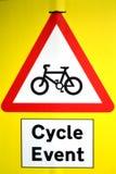 Het Teken van de cyclusgebeurtenis Stock Foto's