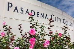 Het Teken van de de Stadsuniversiteit van Pasadena Stock Afbeeldingen