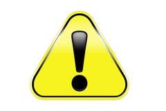 Het teken van de de waarschuwingsaandacht van het gevaar Stock Fotografie