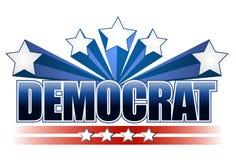 Het teken van de democraat Stock Fotografie