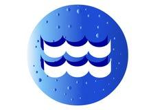 Het Teken van de Dierenriem van Waterman Royalty-vrije Stock Afbeeldingen