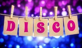 Het teken van de discopartij royalty-vrije stock afbeeldingen
