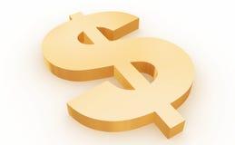 Het teken van de dollar Royalty-vrije Stock Foto's
