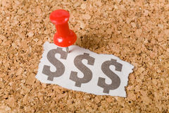 Het teken van de dollar Stock Afbeeldingen