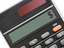 Het teken van de dollar op calculator Stock Fotografie