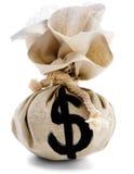Het Teken van de dollar op een Zak Royalty-vrije Stock Afbeelding