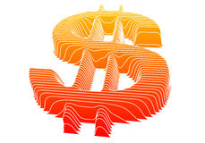 Het teken van de dollar, vector Royalty-vrije Stock Foto's
