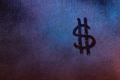 Het teken van de dollarmunt Stock Foto's