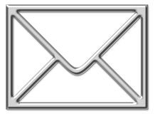 Het teken van de envelop stock illustratie