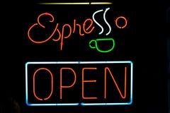 Het teken van de espresso royalty-vrije stock afbeeldingen
