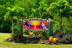 Het Teken van de Evergladesstad Royalty-vrije Stock Fotografie