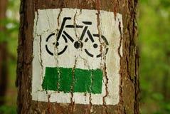 Het teken van de fiets Stock Foto's