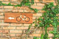 Het teken van de fietsroute stock fotografie