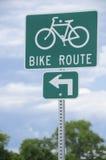 Het teken van de fietsroute Stock Afbeelding