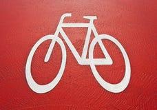 Het teken van de fietssteeg Stock Afbeeldingen