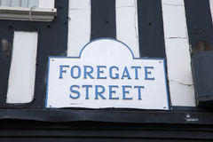 Het Teken van de Forgatestraat, Chester royalty-vrije stock afbeelding