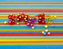 Het teken van de gelei op multicolored achtergrond Royalty-vrije Stock Afbeeldingen