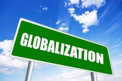 Het teken van de globalisering stock illustratie