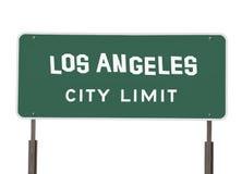 Het Teken van de Grens van de Stad van Los Angeles met Met de hand gemaakte Doopvont Royalty-vrije Stock Fotografie
