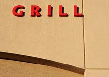 Het teken van de grill stock foto
