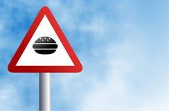 Het teken van de hamburger Stock Foto