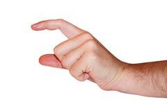 Het teken van de hand Stock Foto's