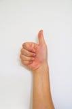 Het teken van de hand Stock Foto
