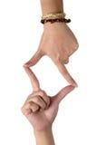 Het teken van de hand Stock Afbeelding