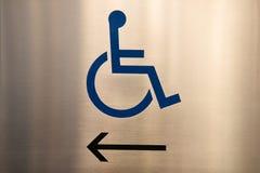Het teken van de handicap royalty-vrije stock afbeeldingen