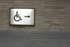 Het teken van de handicap Royalty-vrije Stock Foto's