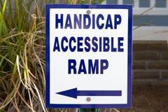 Het Teken van de Helling van de handicap royalty-vrije stock afbeeldingen