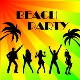Het teken van de het strandpartij van de disco Royalty-vrije Stock Afbeelding
