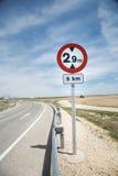 Het teken van de hoogte Stock Fotografie