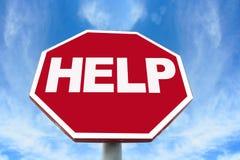 Het teken van de hulp stock fotografie