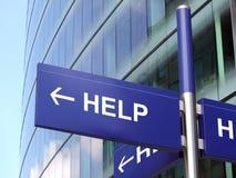 Het teken van de hulp Stock Foto