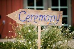 Het teken van de huwelijksceremonie Royalty-vrije Stock Afbeeldingen