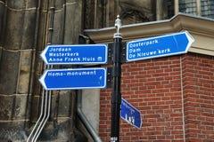 Het teken van de informatie in Amsterdam Stock Foto's