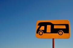 Het teken van de kampeerauto stock foto's