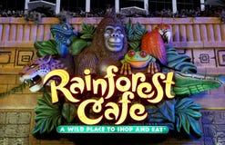 Het teken van de Koffie van het regenwoud - Atlantic City NJ Stock Foto's